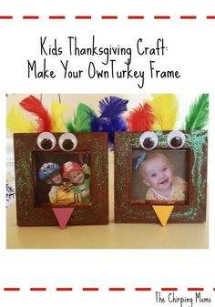 Thanksgiving Preschool Craft : Turkey Frame by ophelia - Das Erntedankfest Thanksgiving Pictures, Thanksgiving Art, Thanksgiving Crafts For Kids, Thanksgiving Activities, Holiday Crafts, Holiday Fun, Thanksgiving Decorations, Thanksgiving Appetizers, Thanksgiving Outfit