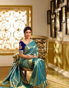 Z❤ Indian Fashion, Love Fashion, Indian Princess, Designer Silk Sarees, Tamil Wedding, Stylish Sarees, Pure Silk Sarees, Traditional Looks, Saree Styles