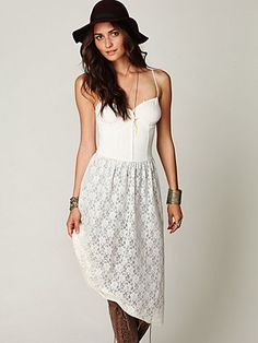 pretty white dress from Free People