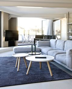 Paseo de Gracia Penthouse in Barcelona penthouse interior living room flooring