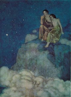 "'Al Aaraaf' from Edgar Allan Poe's ""The Bells and Other Poems"" (1912) illustrated by Edmund Dulac"