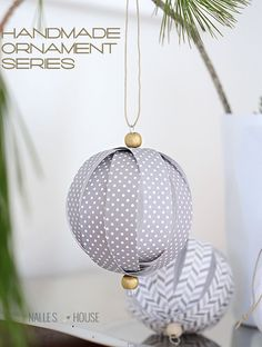 Homemade Paper Ball Ornaments by Anu at Nelle's House | Handmade Ornament No. 11