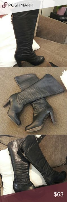 Frye Knee High Boots Authentic in Pre used condition. Knee High Leather Boots size 7 Frye Shoes