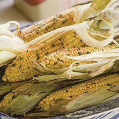 Herb-Buttered Grilled Corn | MyRecipes.com