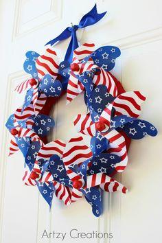 15 Min-4th-of-July-Pinwheel-Wreath-Artzy Creations 7