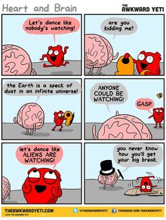 The Awkward Yeti :: the big break – image 1 Akward Yeti, The Awkward Yeti, Cute Comics, Funny Comics, Funny Cartoons, Funny Quotes, Funny Memes, Hilarious, Jokes