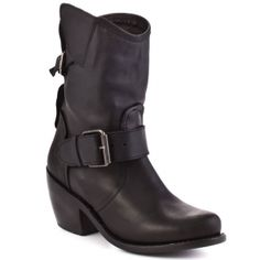 SALE - Dolce Vita Esperanza Western Boots Womens Black Leather - Was $199.99 - SAVE $40.00. BUY Now - ONLY $159.99