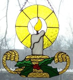 Stained Glass Panel Suncatcher