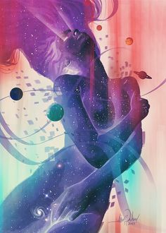 THE UNIVERSE SHUDDERED WITH PLEASURE AND SOME NEW GALAXIES WERE BORN….