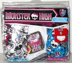 Monster High Panties Underwear Size 6 Girls New Free Shipping | eBay