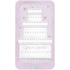 Invite Novelty Wedding Cake | 12 ct with envelopes $5.63 @ Zurchers