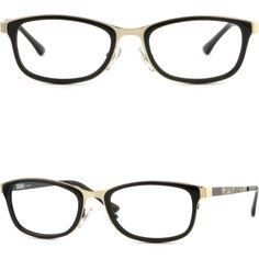 Full Rim Light Rectangular Mens Womens Metal Frame Prescription RX Glasses Black #Unbranded