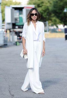 Bloggerin Aimee Song auf der New York Fashion Week. © Getty Images