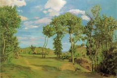Frédéric Bazille, Paysage au bord du Lez (1870) 137.8 x 202.5 cm, The Minneapolis Institute of Arts, Minneapolis