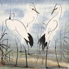 Lin Fengmian 林風眠 (1900–1991) 藏品名称:《三思》 - Collection Think TwiceThinking Three Times
