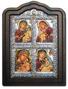 Virgin Mary the Mother of God Icon Pure Silver 999
