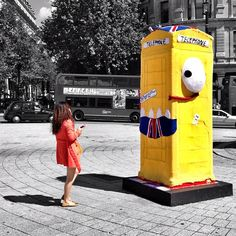 Giant knitted monster love at first sight. #btartbox #yarnbombing