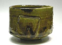 Pottery ☆ Clay ☆ Ceramics ☆ Ryoji Koie Oribe ☆Tea bowl