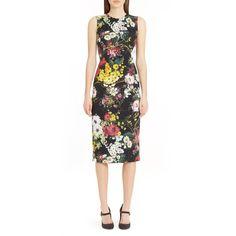 e0338b541e Women s Dolce gabbana Floral Print Stretch Silk Sheath Dress (£1