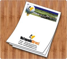"""100 Personalized Promotional Magnetic NotepadsCustom 3.5/"""" x 8/"""" 25 Sheets"""