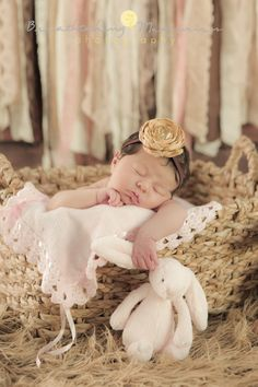 Miami newborn photographer, newborn photo ideas, baby girl holding bunny photo ideas.  Breathtaking Memories Photography