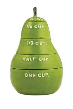 HauteLook | Deceivingly Straightforward Handmade Pottery: Pear Measuring Cups - Green