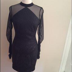 Black dress!!! Black dress 99% polyester 1% elastane !!new!!Great fit✌🏼️ Dresses Long Sleeve