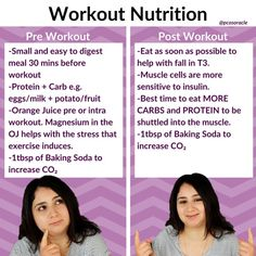 🙅Don't exercise on an empty stomach. For up to 2 hours post exercise muscle cells are more sensitive to insulin. Get in your carbs and protein Sodium bicarbonate (baking soda) is said to be taken 120 to 150 minutes before exercise. ⚠️Don't take baking soda with a protein as it robs stomach of hydrochloric acid. 👉It will be transformed to CO2 and cause gastrointestinal issues (and destroy the bicarbonate). ✔️So combine it with a small high carbohydrate meal.