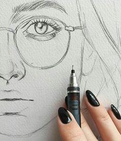 Face Drawing Drawing Pencil Portraits - Quick sketch, fine lines, pencil drawing, face portrait, eye detail Discover The Secrets Of Drawing Realistic Pencil Portraits - Portrait Sketches, Drawing Sketches, Drawing Portraits, Eye Sketch, Sketches Of Eyes, Sketch Art, Tattoo Sketches, Portrait Au Crayon, Portrait Art