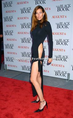 """at The Premiere of """" Little Black Book"""" on July 2004 .Photo by Robin Platzer, Twin Images Carol Alt, Little Black Books, Vintage Beauty, American Actress, Supermodels, Robin, Fashion Models, Actresses, My Style"""