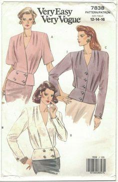 Vogue Sewing Patterns, Mccalls Patterns, Vintage Sewing Patterns, Barbie Sisters, Peplum Blouse, Shoulder Pads, Pretty Dresses, Vintage Ladies, Easy