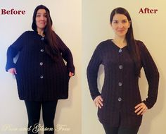 Poor and Gluten Free (with Oral Allergy Syndrome): DIY Sweater Recon: How to turn a large knit sweater into a smaller one