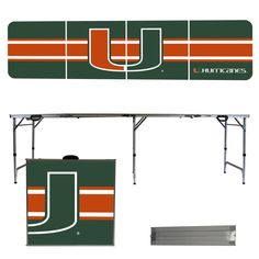 University of Miami Hurricanes Beer Pong Table
