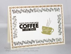 MFT Perk Up & CTMH Cup of Cheer stamp sets to create this friendship card #mftstamps #ctmh #perkup #coffee #friendship #cardmaking