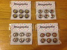 Custom button magnets Custom Buttons, Magnets, My Design, Holiday Decor, Home Decor, Homemade Home Decor, Decoration Home, Interior Decorating
