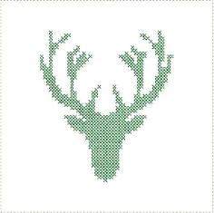 Cross Stitch Deer Antlers Embroidery Machine by StitchesByGeriAnn