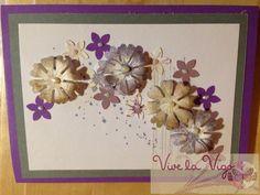 """Geburtstagskarte mit Blumen und Stempeln aus dem Stempelset """"Georgeous Grunge"""""""