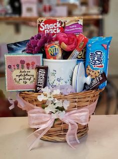 Snack & Novelty Birthday Gift Baskets, Birthday Gifts, Vanilla, Chips, Pudding, Snacks, Chocolate, Breakfast, Food