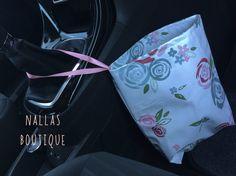 Oil Cloth Floral Car Trash Bag, Car Litter Bag, Auto Accessories, Auto Bag, Car Organizer, Car Accessory - pinned by pin4etsy.com