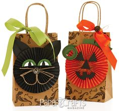 Paper Crafted Gift Bags for Halloween   Paper Crafts Connection