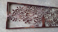 This beautiful Metal Framed tree is about 36 Wide x 12 Tall. I am showing it in a Dark Brown with Copper color showing thru in some spots... but