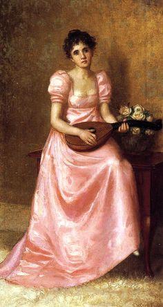 The Athenaeum - Woman Playing a Mandoliln (De Scott Evans - )