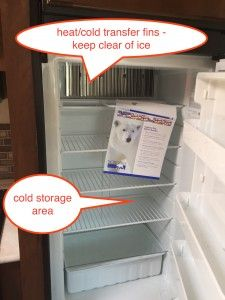 Jayco travel trailer refrigerator - inside view