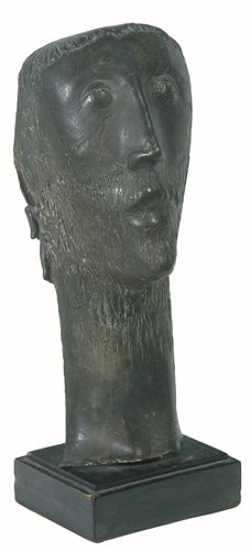 Gerd Utescher, Ascetic, bronze, 13 x 5 x 5-1/4 inch