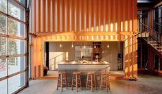 Le coin cuisine de la maison container