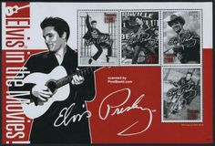 30th Wedding Anniversary Elvis Presley Souvenir Sheet Mnh. Palau