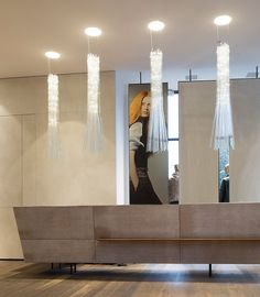 """Muenchen"" small/ 4 pendants for a shop in Munich/ isabel hamm licht/architecture Gogl Architects"
