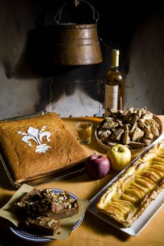 Typical Tuscan cuisine in farmhouse