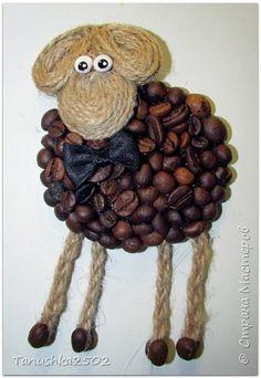 Поделка изделие Новый год Вот моя версия барашек - джентльменов новогодних и кроха-елочка  Кофе фото 3