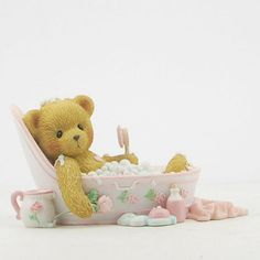 Cherished Teddies Mom Bear in the Bathtub Mothers Day Figurine